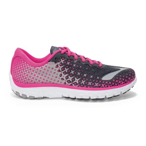 Brooks PureFlow 5 – Womens Running Shoes – Anthracite/Pink Glow/Alloy