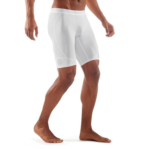 Skins DNAmic Mens Compression Half Tights – White