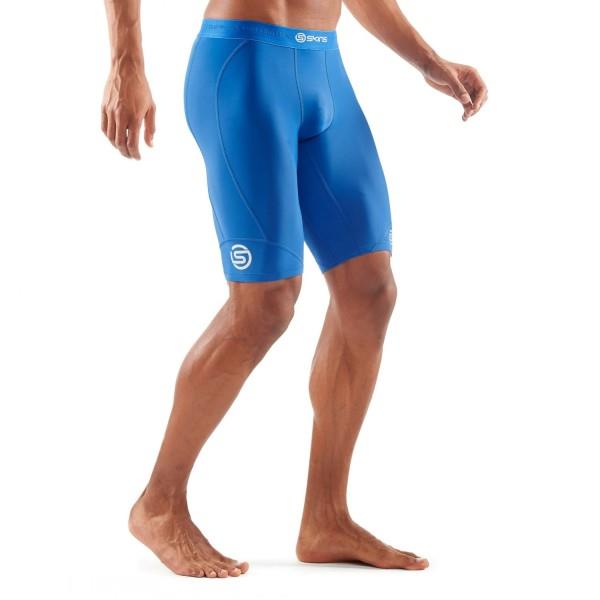 Skins DNAmic Mens Compression Half Tights – Royal Blue