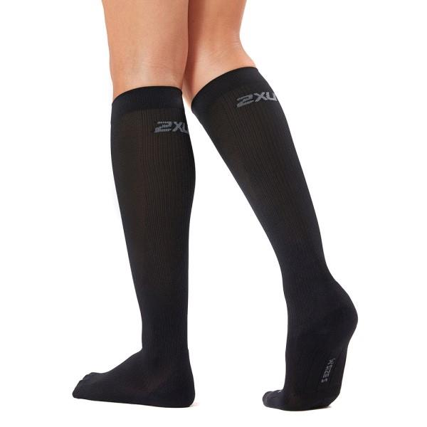 2XU Womens Compression Run Socks – Black