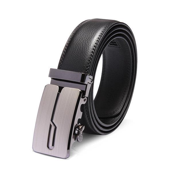120cm Male Automatic Buckle Cowhide Leather Business Casual Belts