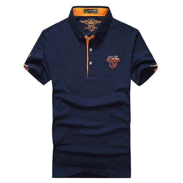 Spring Summer Business Casual Polo Shirt