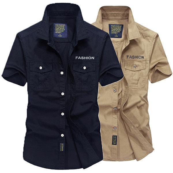 Breathable Chest Pockets Shirts