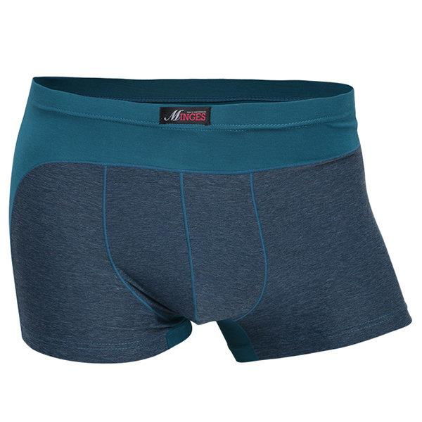 Sexy Stitching Breathable Antibacterial Modal Soft Boxer Briefs for Men