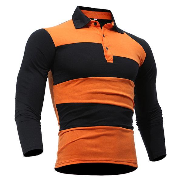 Striped Slim Fit Casual Polo Shirt