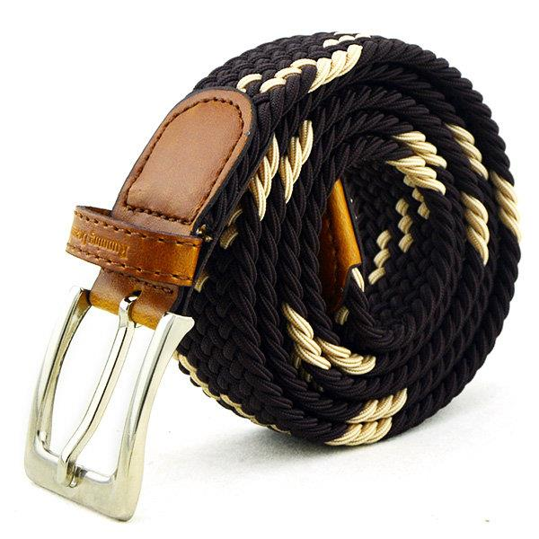 115CM Men Elastic Durable Nylon Belt Outdoor Sports Casual Pin Buckle Waistband