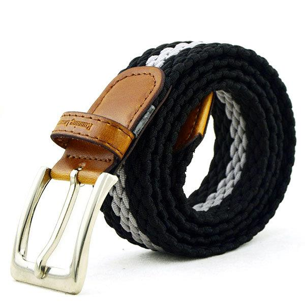 115CM Men Casual Nylon Elastic Belt Outdoor Sports Needle Buckle Canvas Belt