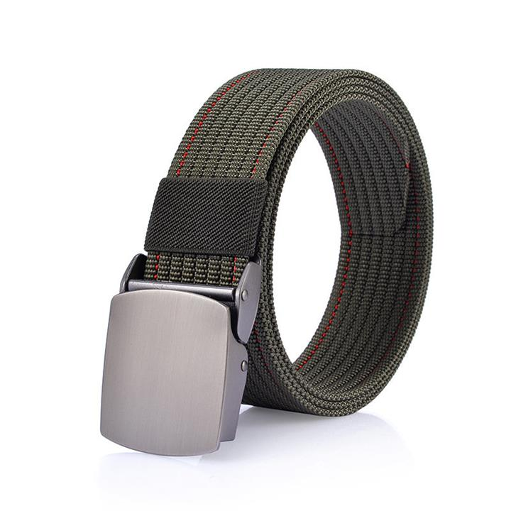 125CM Men Nylon Alloy Buckle Belt Casual Outdoor Sport Military Tactical Durable Pants Strip