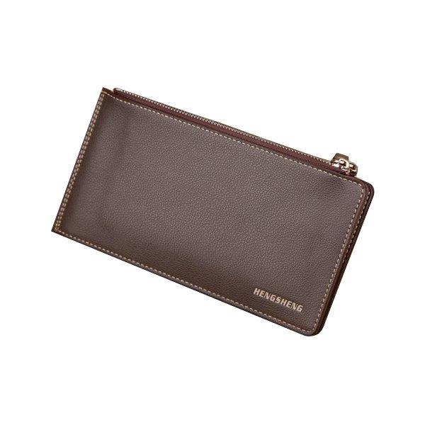 15 Card Holders Vintage Genuine Leather Coin Bag Casual Wallet For Men