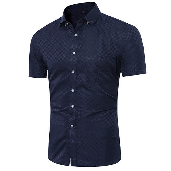 Casual British Style Fashion Plaids Printing Designer Shirts for Men