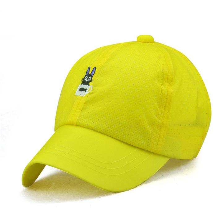 Children Summer Sunscreen Thin Breathable Baseball Cap Embroidered With Kitten Hat