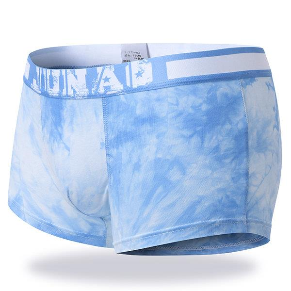 Casual Cotton Breathable Mid Rise Printing Boxer Briefs for Men