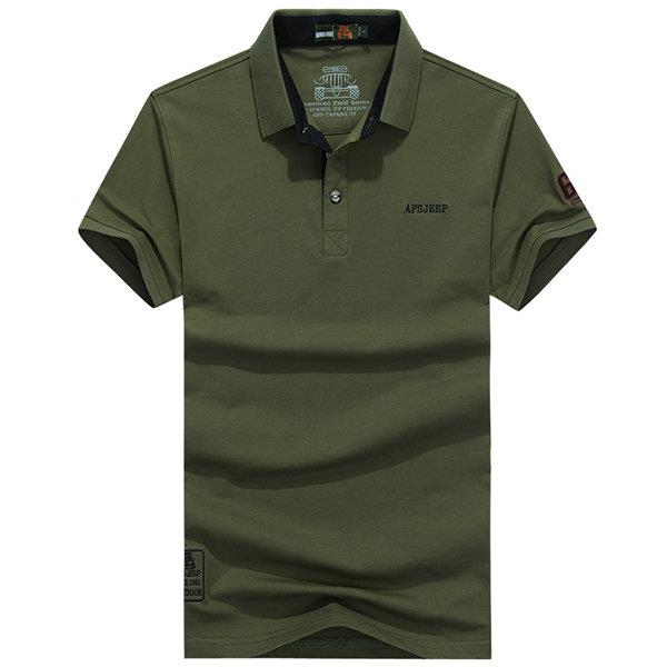 Summer Solid Color Casual Cotton Polo Shirt
