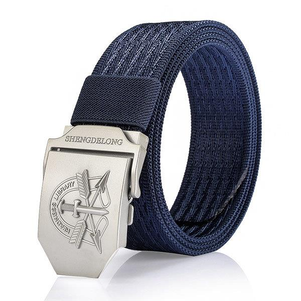 125CM Men Casual Nylon Canvas Belt Breathable Soft Smooth Buckle Denim Belt
