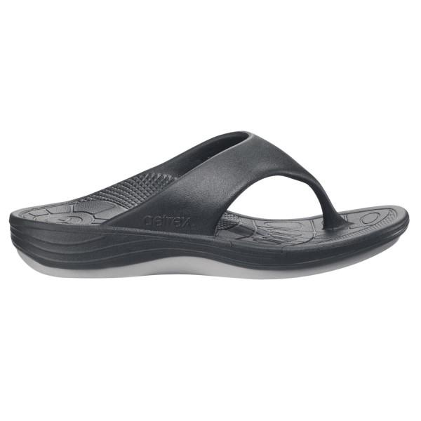 Aetrex Lynco Flips – Womens Thongs – Black