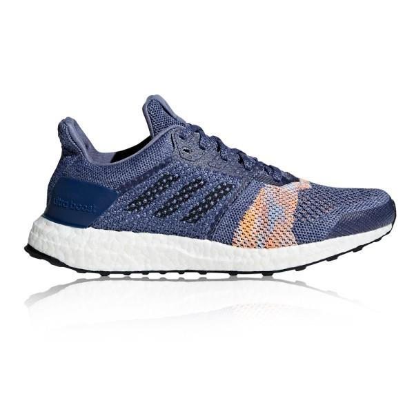 Adidas Ultra Boost ST – Womens Running Shoes – Raw Indigo/Noble Ink/Hi-Res Orange