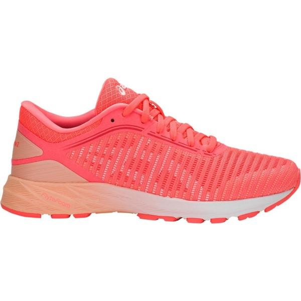 Asics DynaFlyte 2 – Womens Running Shoes – Flash Coral/White/Apricot Ice