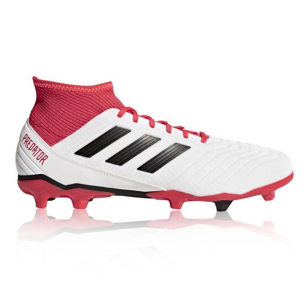 Adidas Predator 18.3 Firm Ground – Mens Football Boots – White/Core Black/Real Coral