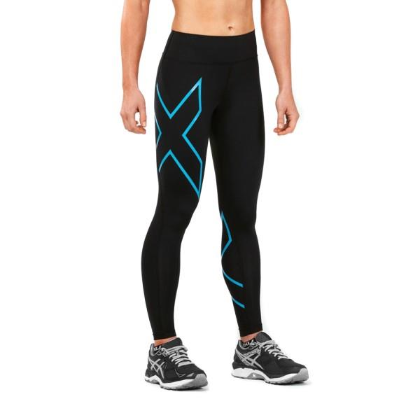 2XU Bonded Mid-Rise Womens Compression Tights – Dresden Blue/Black