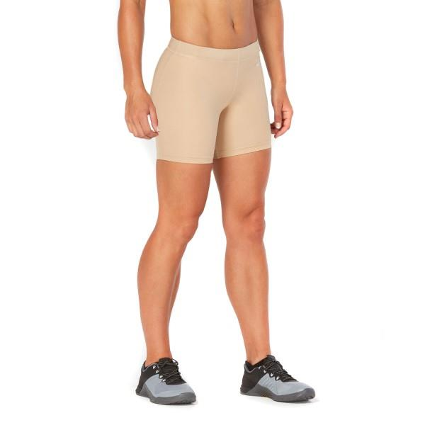 2XU Game Day 5 Inch Womens Compression Shorts – Beige/Silver