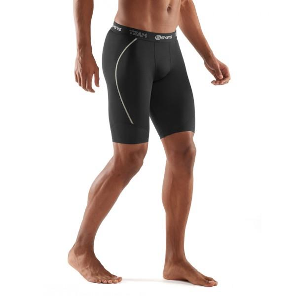 Skins DNAmic Team Mens Compression Half Tights – Black