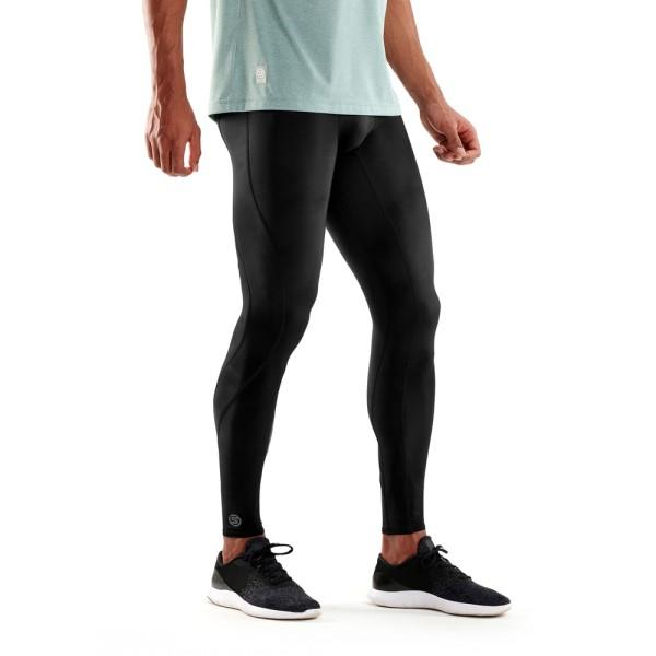 Skins DNAmic Mens Compression Long Tights – Black/Black