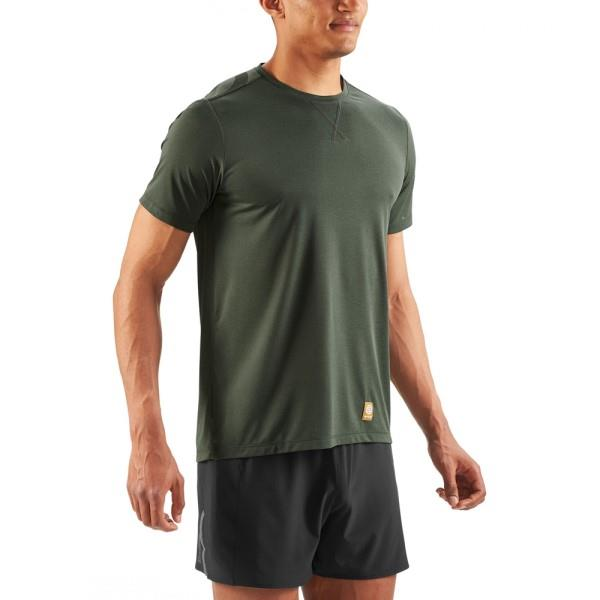 Skins Activewear Fitness Avatar Mens Short Sleeve Training T-Shirt – Utility Marle