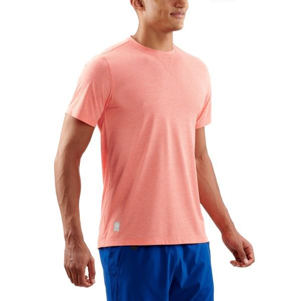Skins Activewear Fitness Avatar Mens Short Sleeve Training T-Shirt – Tangerine Marle