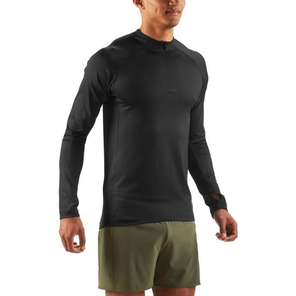 Skins Activewear Trooper Mid Layer Mens Long Sleeve Top – Black