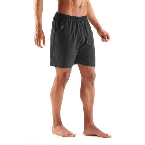 Skins Activewear Square 7 Inch Mens Running Shorts – Black