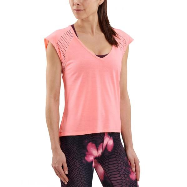 Skins Activewear Odot Womens Training T-Shirt – Fluro Peach