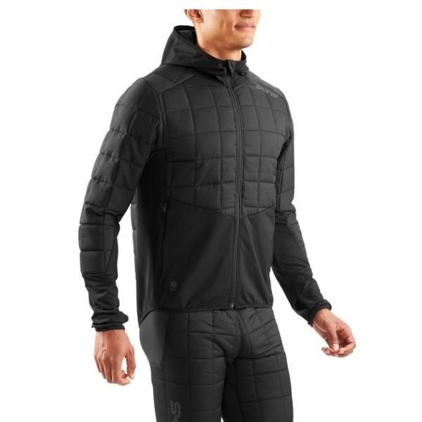 Skins Activewear Jedeye Run Mens Puffer Jacket – Black