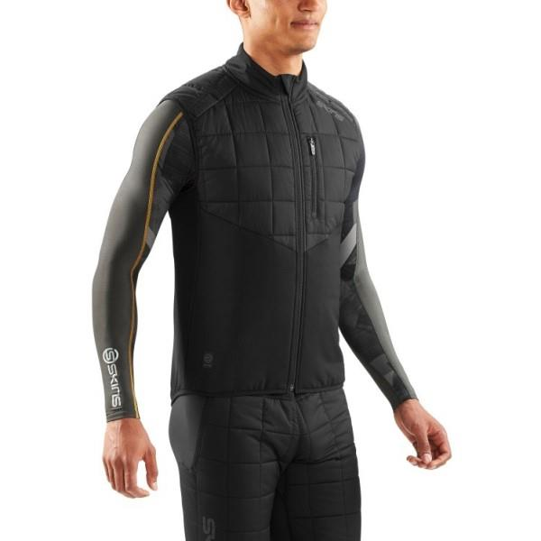 Skins Activewear Jedeye Run Mens Gilet Puffer – Black
