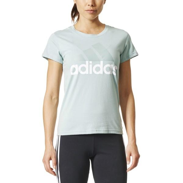 Adidas Essentials Linear Womens Casual T-Shirt – Tactile Green