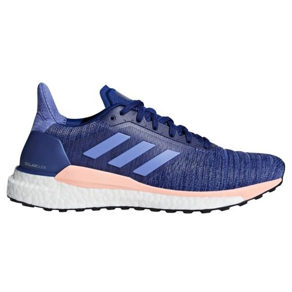 Adidas Solar Glide – Womens Running Shoes – Mystery Ink/Real Lilac/Clear Orange
