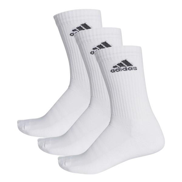 Adidas 3-Stripes Performance Unisex Training Crew Socks – 3 Pairs – White