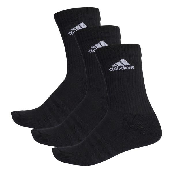 Adidas 3-Stripes Performance Unisex Training Crew Socks – 3 Pairs – Black