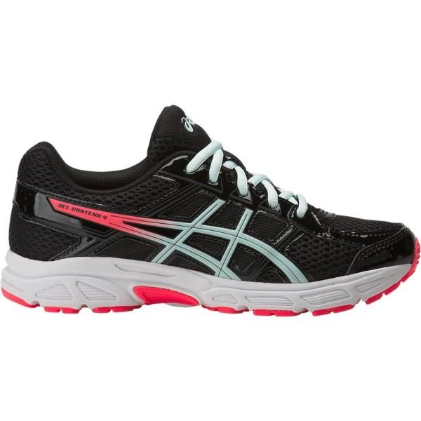 Asics Gel Contend 4 GS – Kids Girls Running Shoes – Black/Soothing Sea