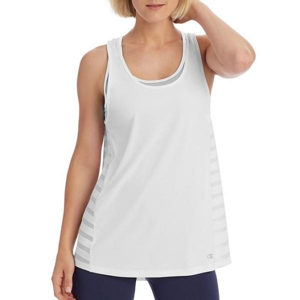 Champion Womens Training Tank With Built-In Sports Bra – White