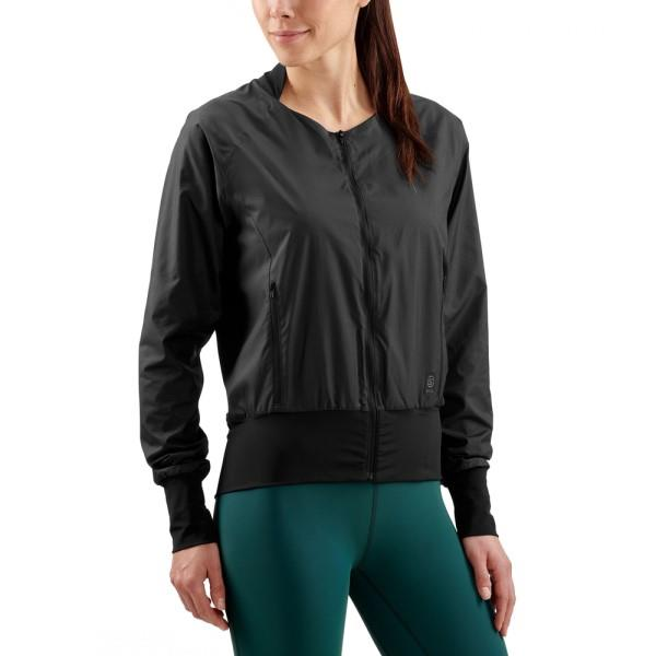 Skins Activewear Womens Interlect Bomber Jacket – Black