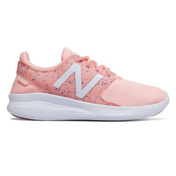 New Balance Fuel Core Coast v3 – Kids Girls Running Shoes – Himalayan Pink/White
