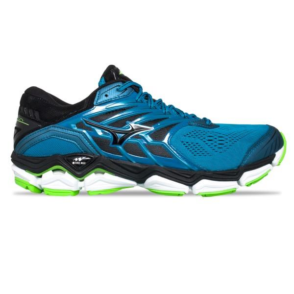 Mizuno Wave Horizon 2 – Mens Running Shoes – Turkish Tile/Black/Green Gecko