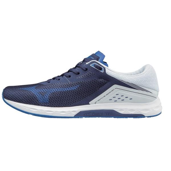 Mizuno Wave Sonic – Mens Running Shoes – Eclipse Blue/White
