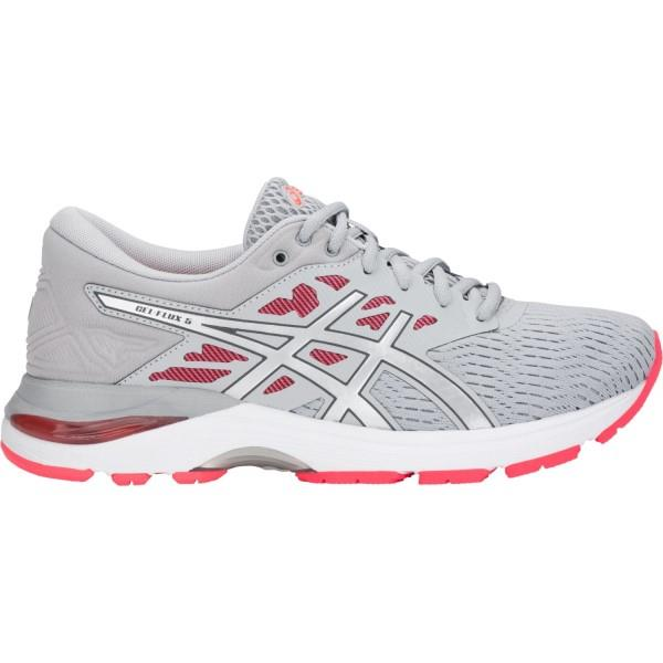 Asics Gel Flux 5 – Womens Running Shoes – Mid Grey/Silver