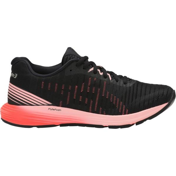 Asics DynaFlyte 3 – Womens Running Shoes – Black/Flash Coral