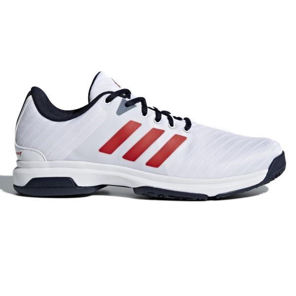 Adidas Barricade Court OC – Mens Tennis Shoes – White/Ink/Scarlet