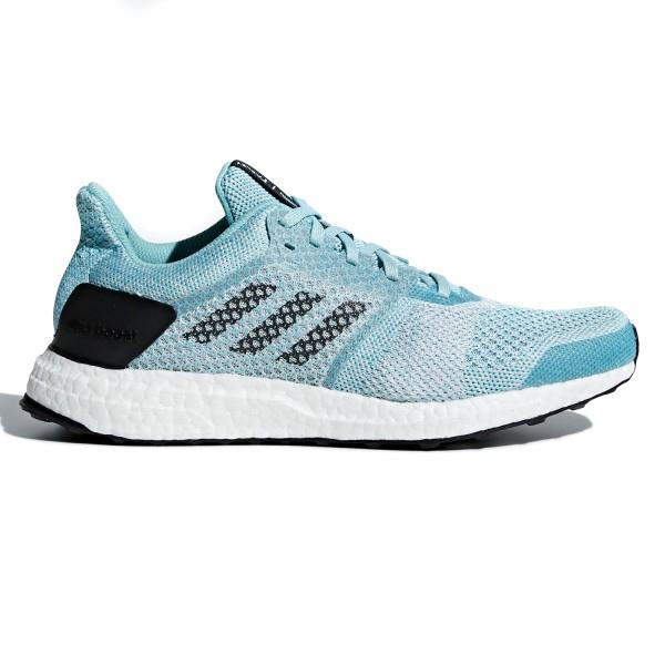 Adidas Ultra Boost ST Parley – Womens Running Shoes – Blue/White/Ink
