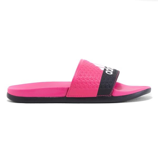 Adidas Adilette Comfort Slide – Kids Girls Casual Slide – Pink/White/Black