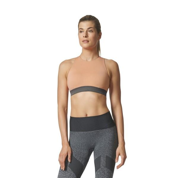 Adidas Womens Halter Sports Bra – Pink/Beige/Tactile Rose