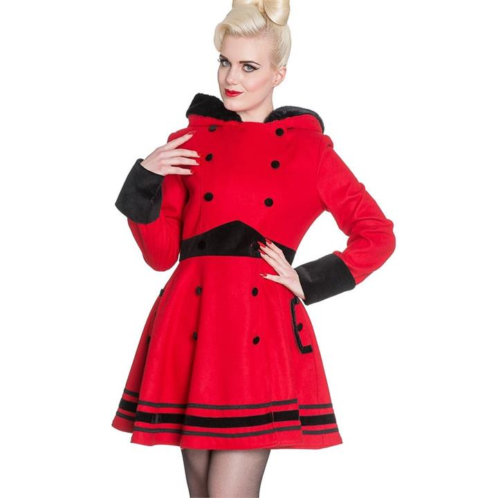 [Special Order] Hell Bunny Mikaela Coat – Red (XL, 2XL, 3XL, 4XL Only)